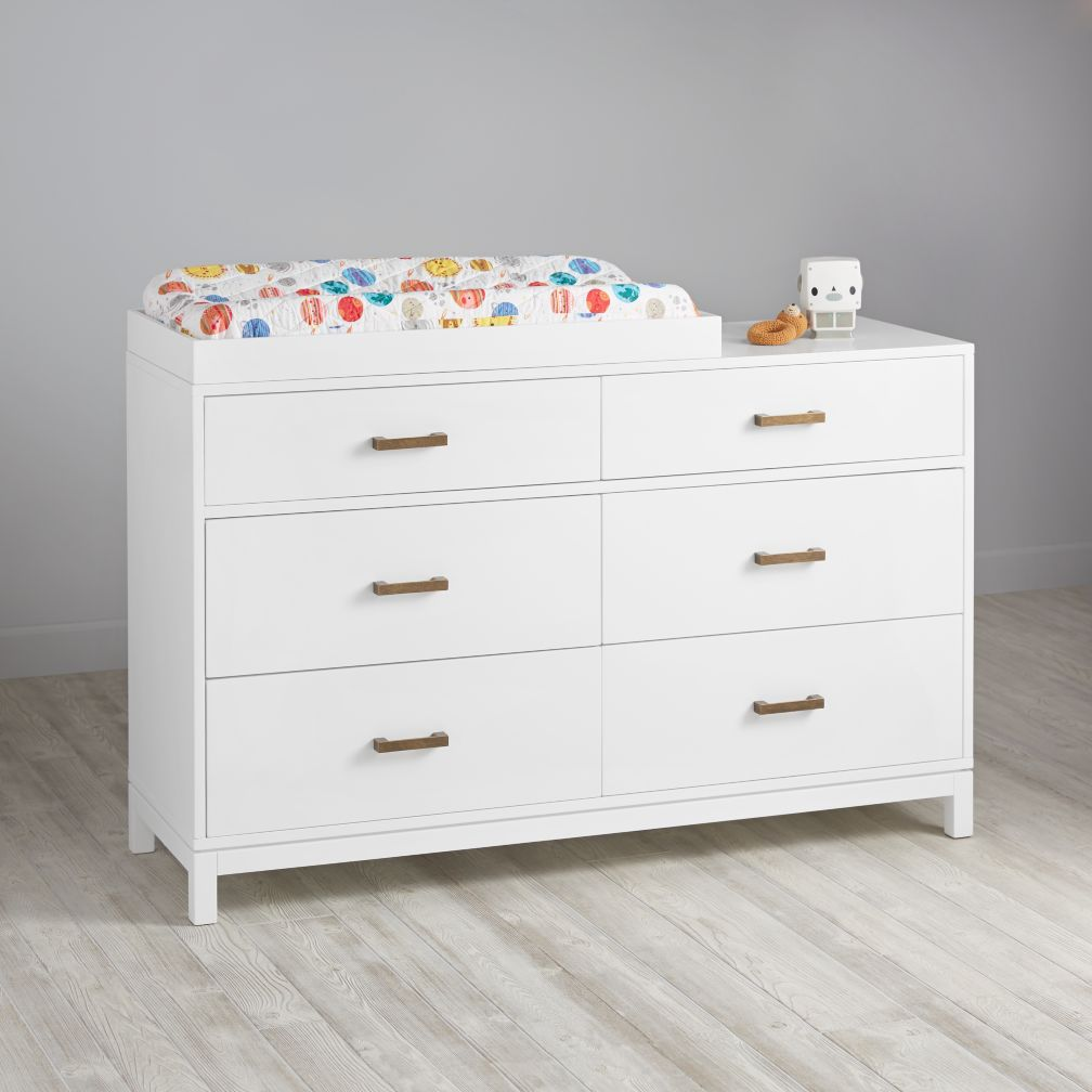Cargo 6-Drawer Changing Table (White)