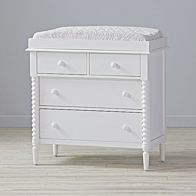White Jenny Lind Changing Table The Land Of Nod