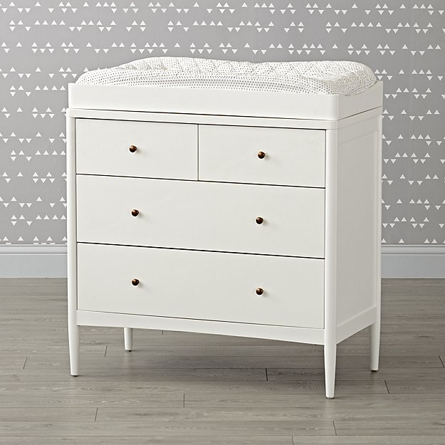 Hampshire 4-Drawer White Changing Table