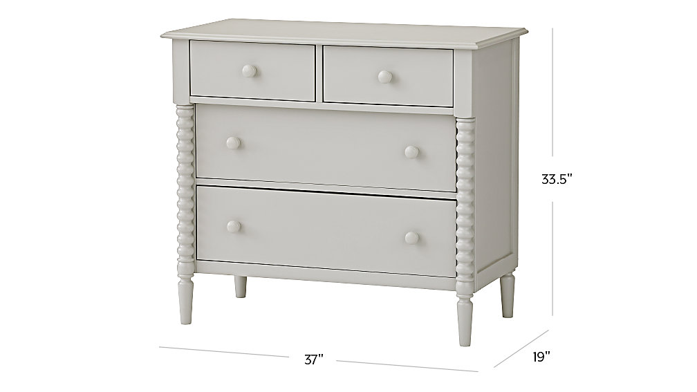 Dresser Dimensions jenny lind 4-drawer light grey dresser | the land of nod