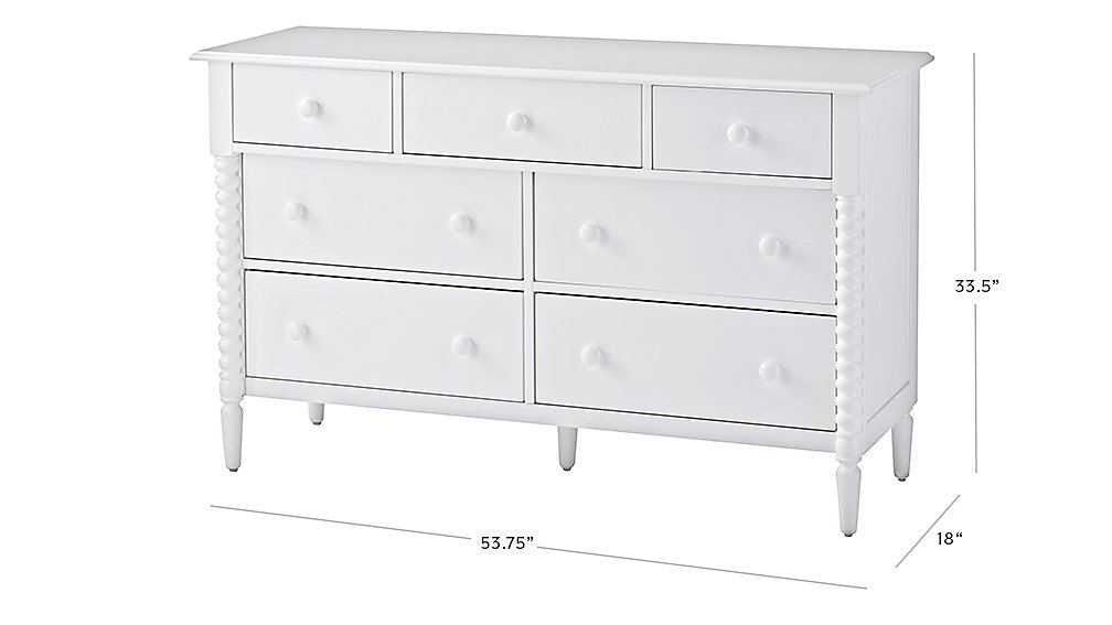 Dresser Dimensions jenny lind wide dresser (white) | the land of nod