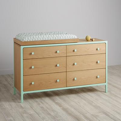Larkin 6-Drawer Changing Table (Mint)