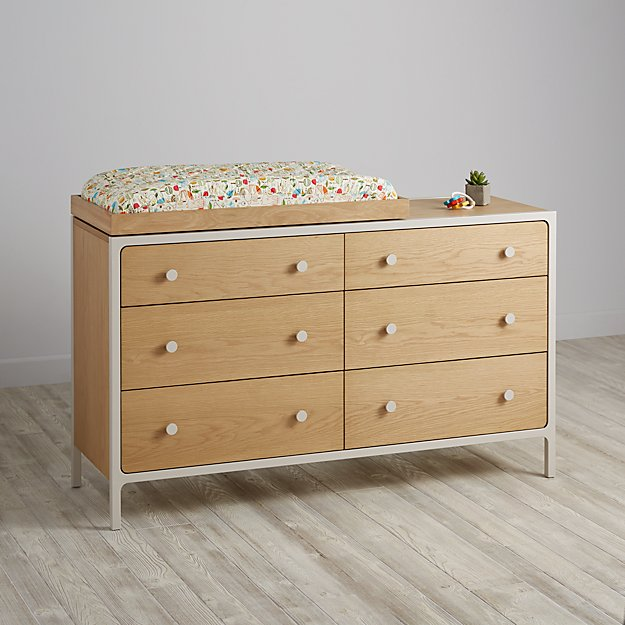 Larkin 6-Drawer Changing Table (Stone)