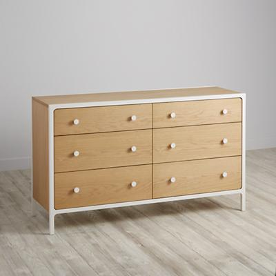 Larkin 6-Drawer Dresser (White)