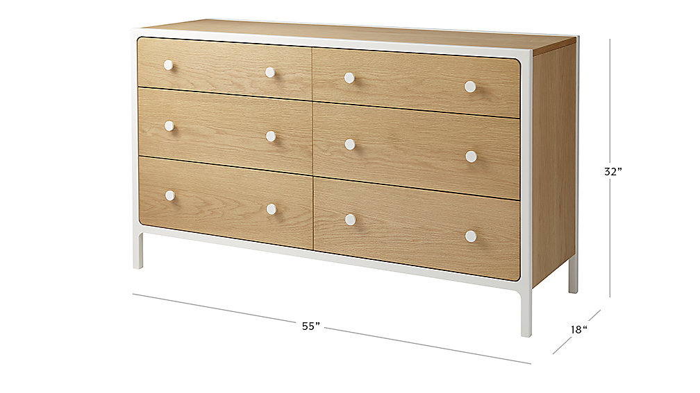 Dresser Dimensions larkin 6-drawer dresser (white) | the land of nod