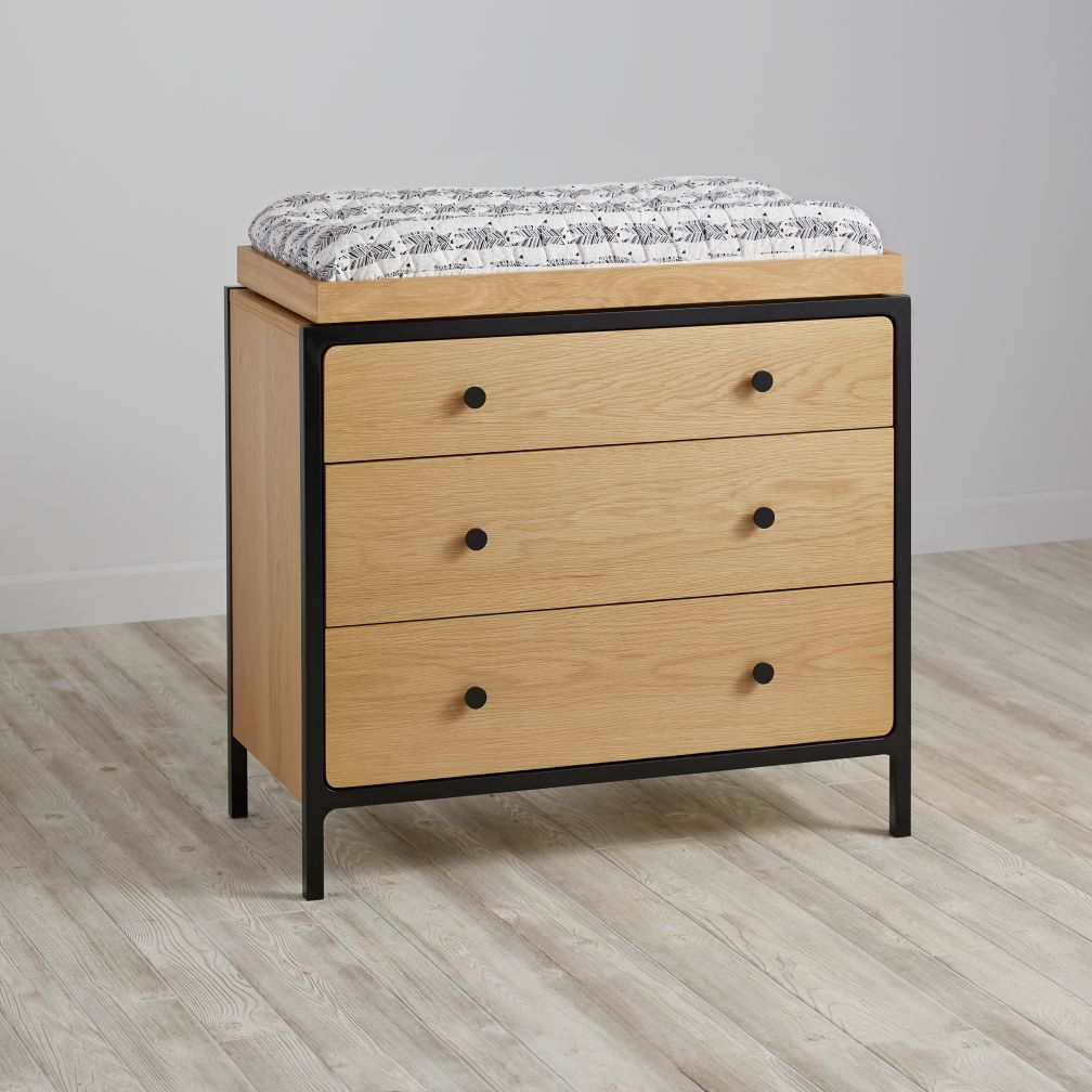 Primary 3-Drawer Changing Table (Black)