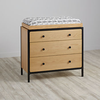 Primary 3 Drawer Changing Table (Black)