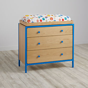 Primary 3 Drawer Changing Table (Blue)