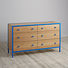Blue Primary 6-Drawer Dresser.