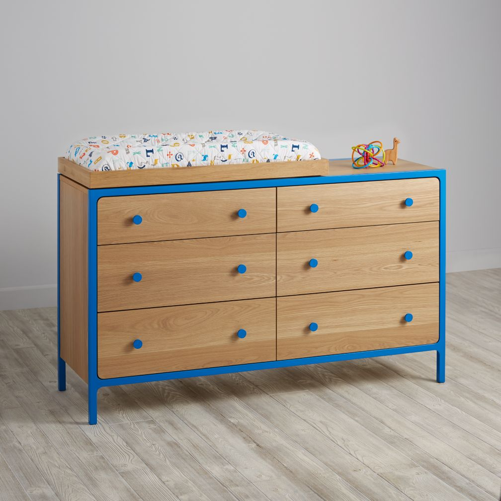 Primary 6-Drawer Changing Table (Blue)