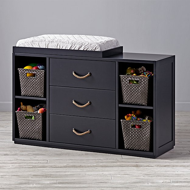 Topside Midnight Blue Wide Changing Table