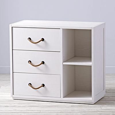 Topside White Glaze 3-Drawer Dresser