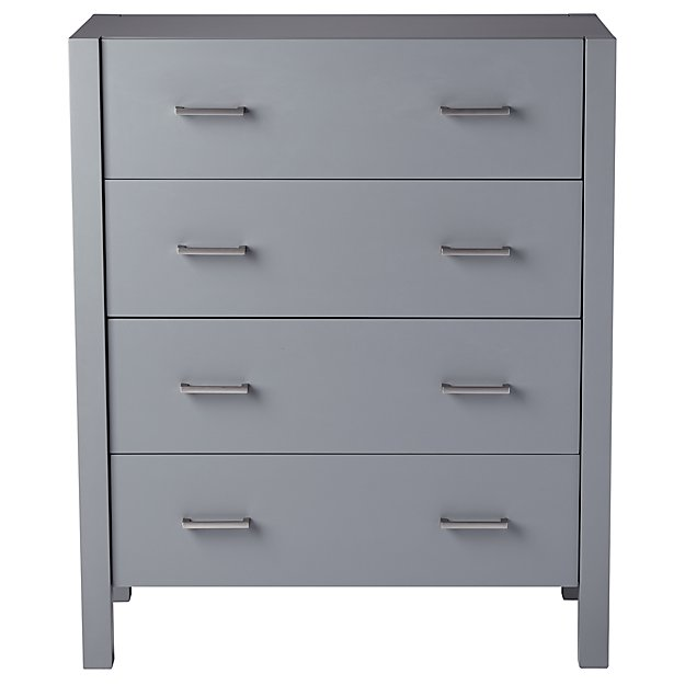 Uptown 4-Drawer Grey Dresser