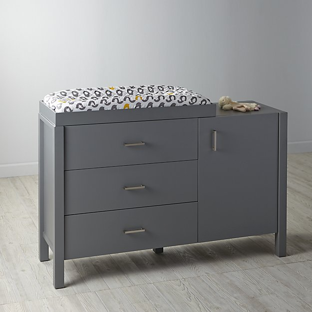 Uptown Wide Changing Table Grey