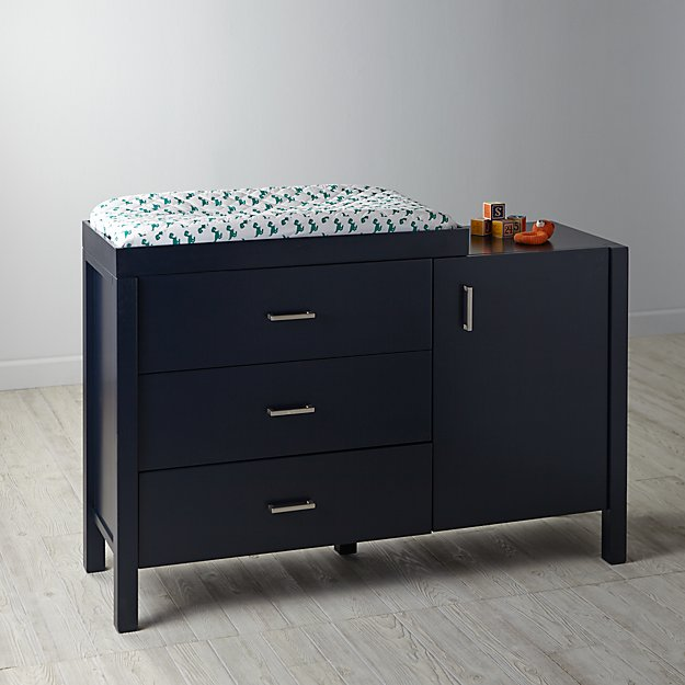 Uptown Wide Changing Table (Midnight Blue)
