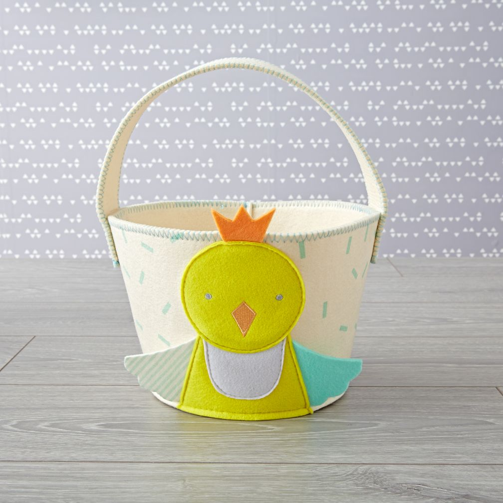 Yellow Chick Easter Basket
