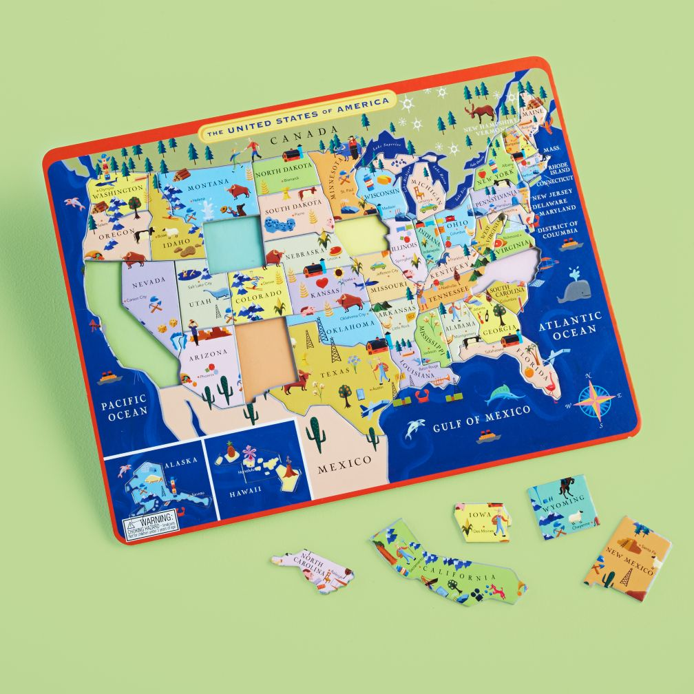 From The Mountains To The Prairies Puzzle The Land Of Nod - Us map with mountains