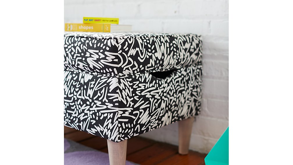 Upholstered Storage Bench (Pennywood Sketch)