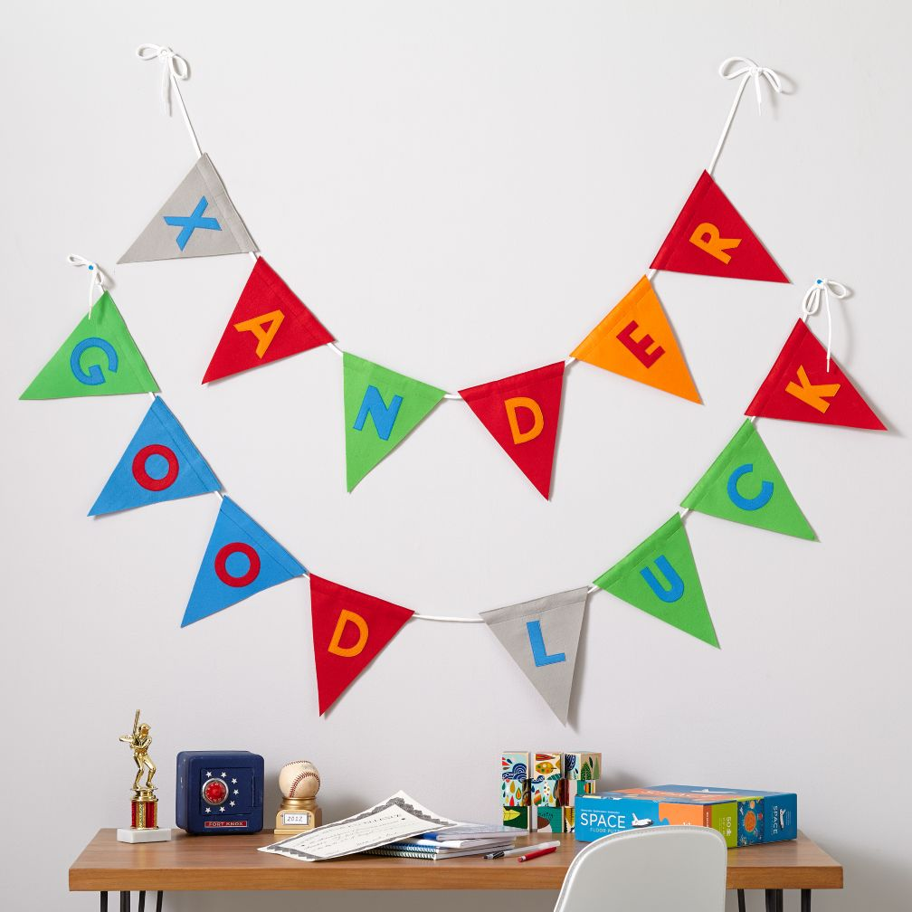 kids decor boy pennant garland the land of nod