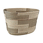 Merchant Silver Floor Basket