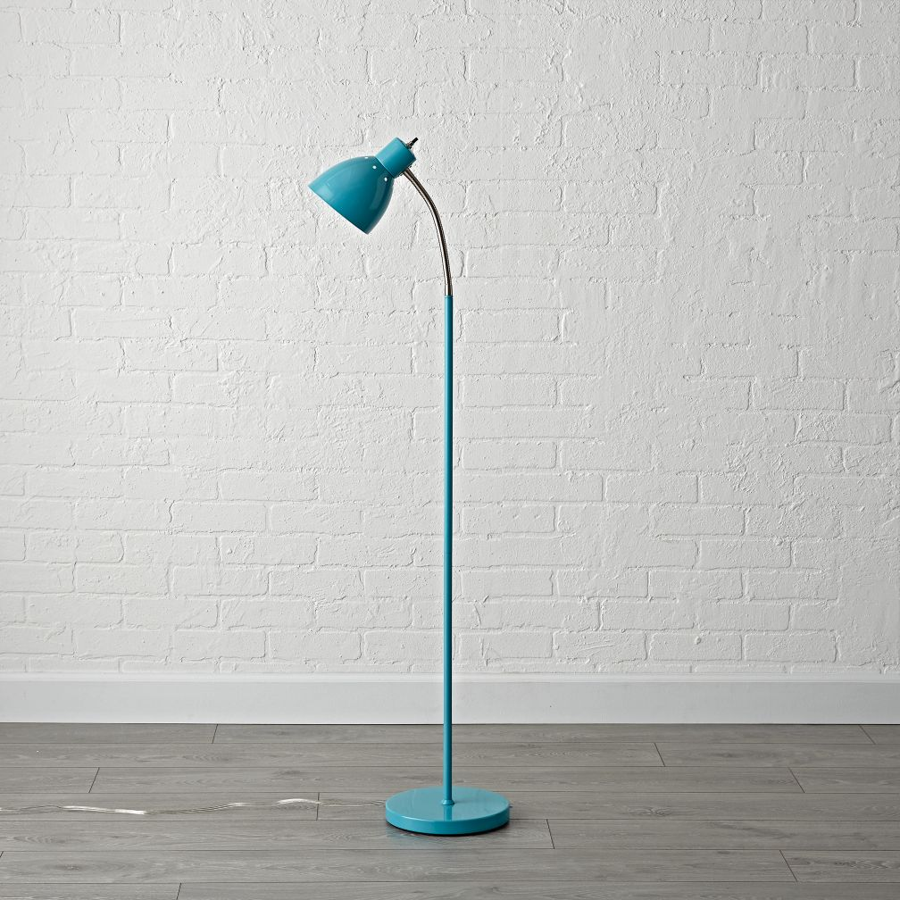 Bright Idea Teal Floor Lamp