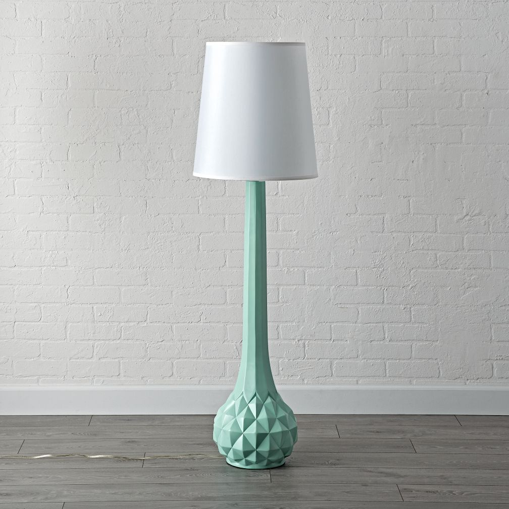 Mint green floor lamp the land of nod mozeypictures