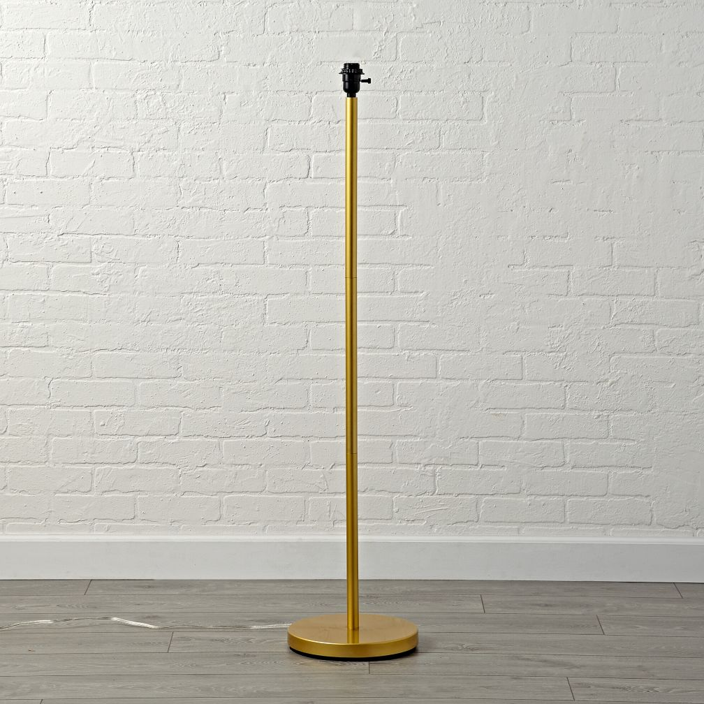 Mix and Match Gold Floor Lamp Base