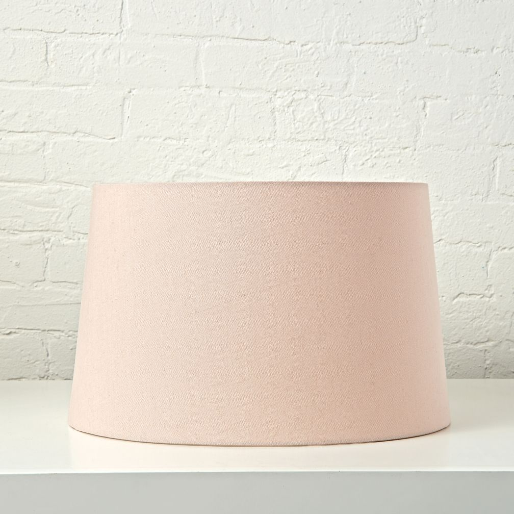 Mix and match nickel floor lamp base the land of nod for Light pink floor lamp shade