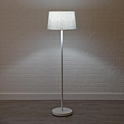 Floor_Lamp_Shade_Silver_Metallic_ON