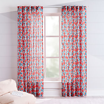 bedroom curtain colors. Red Floral Curtains Kids  Bedroom Nursery The Land of Nod