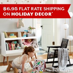 $6.95 Flat Rate Shipping on Holiday Decor.