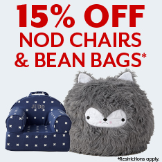 15% off Nod chairs and bean bags. Restrictions apply.