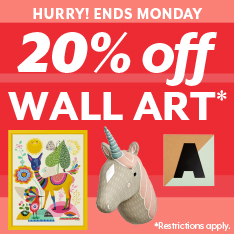 Hurry! Ends Monday. 20% off Wall Art. Restrictions apply.