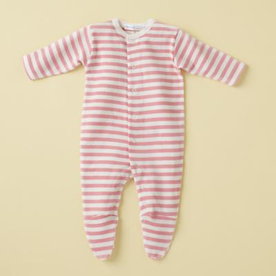 3-6 Pink Stripe Footie