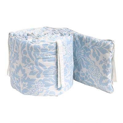 With a Flourish Crib Bumper (Blue)