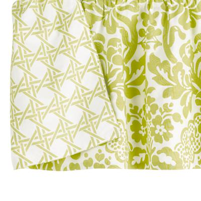 With a Flourish Reversible Crib Skirt (Green)