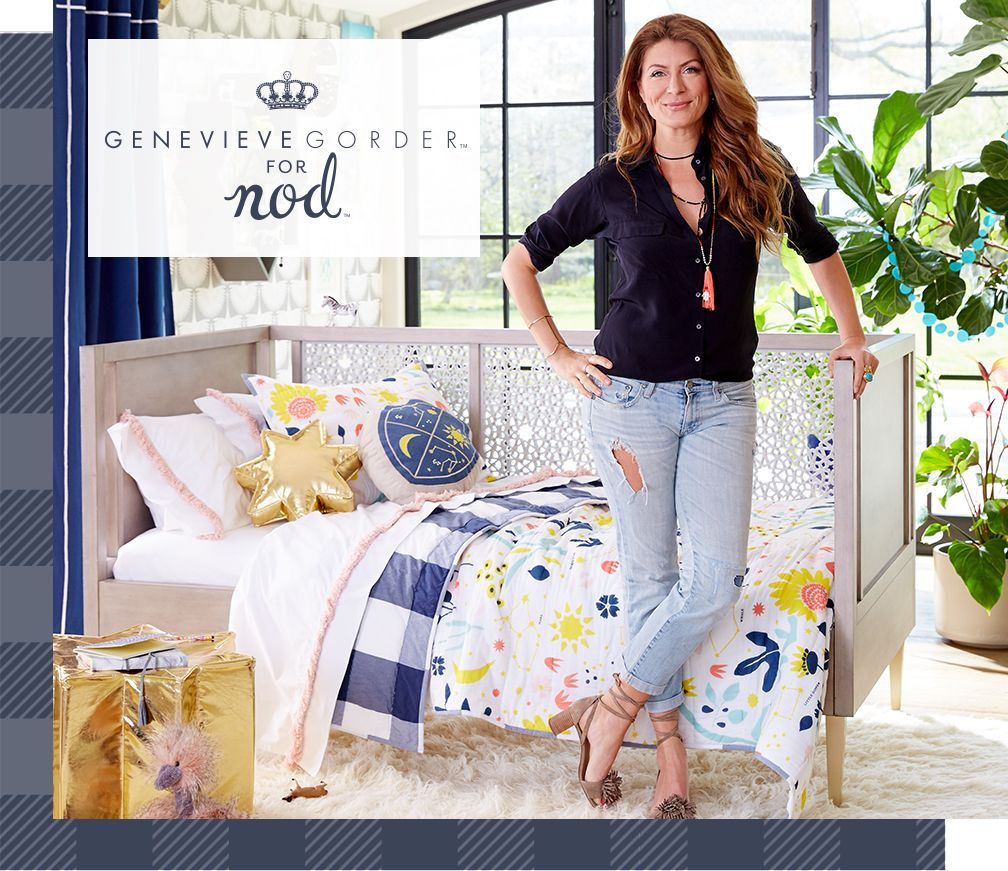 Genevieve Gorder headshot and logo