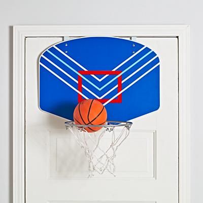 Stop and Pop Basketball Hoop