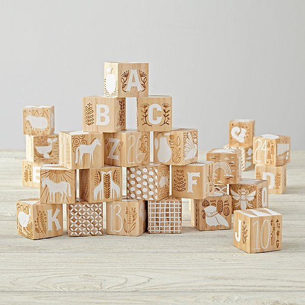 Etched Wooden Blocks