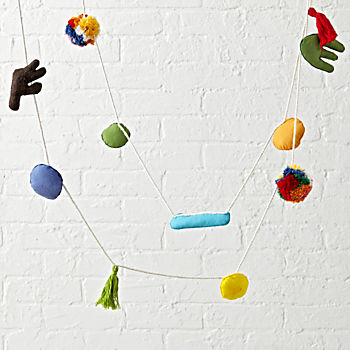 Abstract Felt Garland