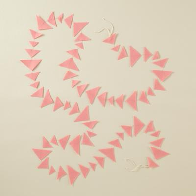 Lt. Pink Triangle Garland
