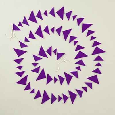 Purple Triangle Garland