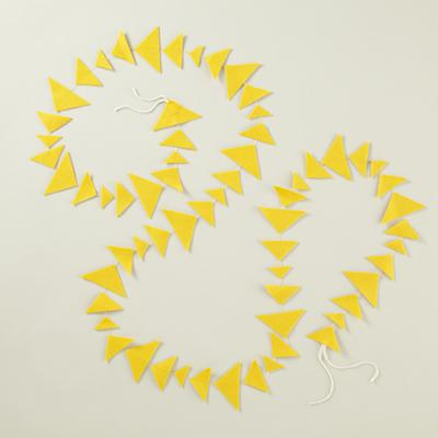 Yellow Triangle Garland