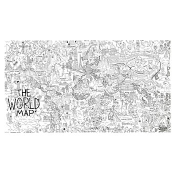 Giant World Coloring Poster