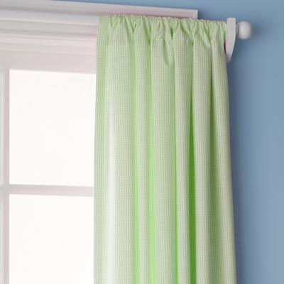 "84"" Checks, Please Curtain Panel (Green)"