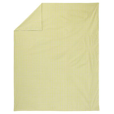 Twin Green Gingham Duvet Cover