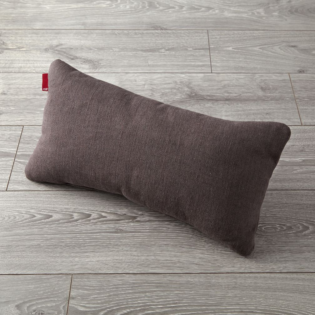 Milo Dark Grey Lumbar Pillow