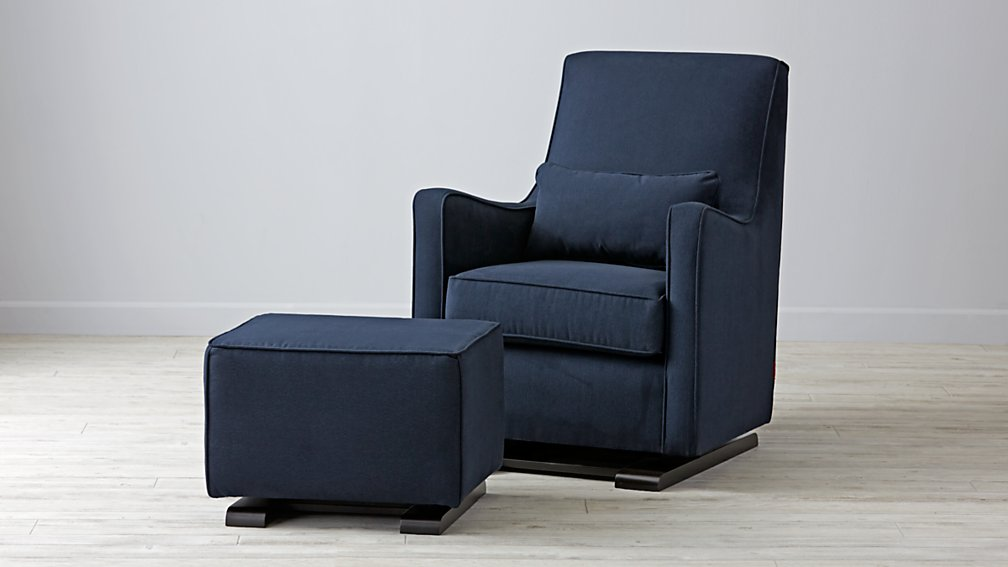 Navy nursery glider thenurseries for Navy blue chair and ottoman