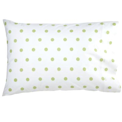 Green Pastel Dots Pillowcase