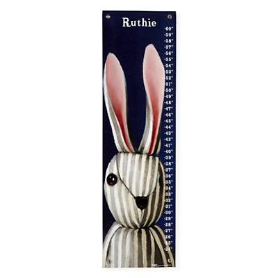 Personalized Striped Bunny Growth Chart